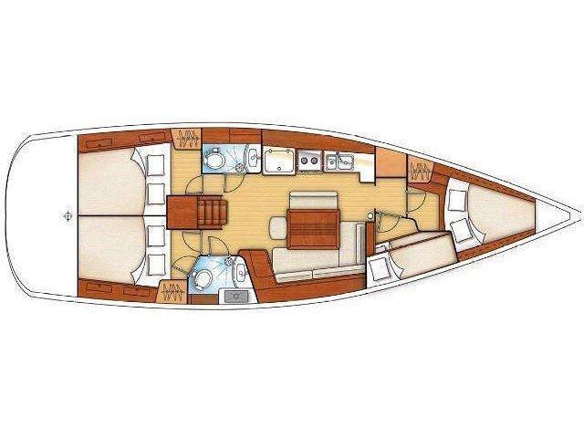 Oceanis 43 (4 cbs) (O43-09-4) Plan image - 1