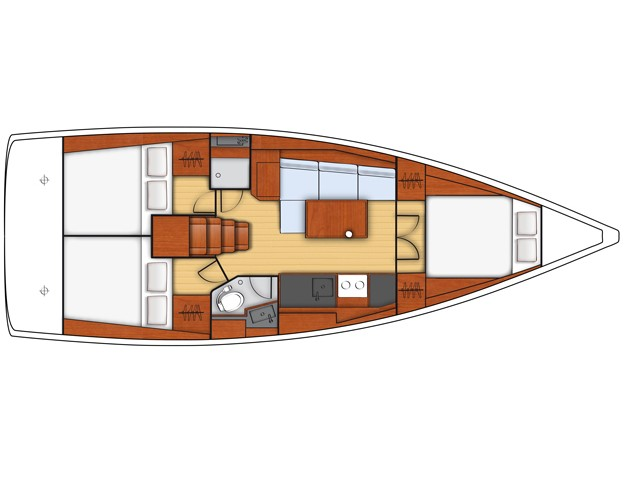 Oceanis 38 (Santa Monica) Plan image - 1
