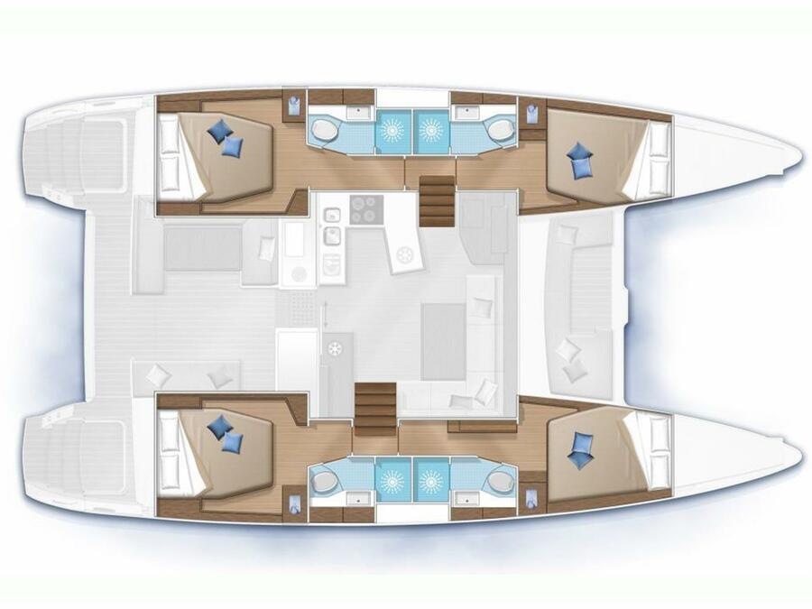 Lagoon 450 Sport (twin elli) Plan image - 1