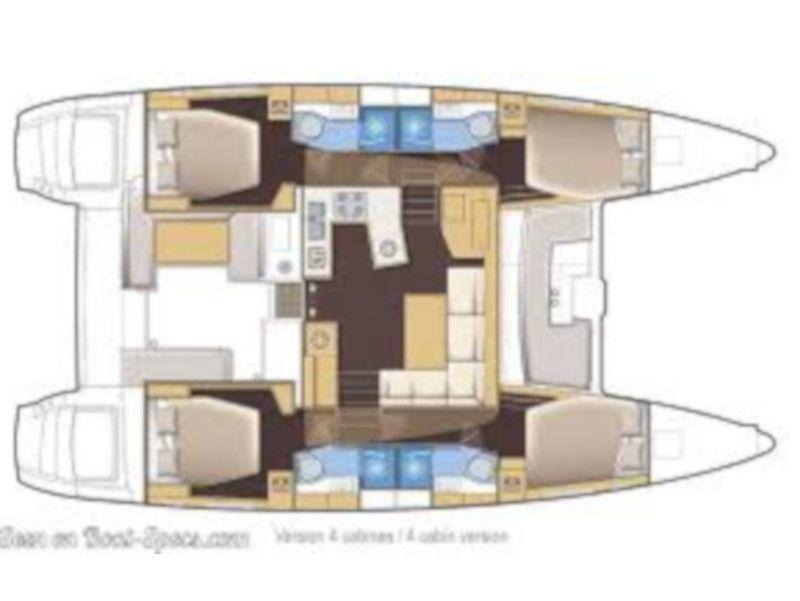 Lagoon 450  Flybridge (Alex JR) Plan image - 2