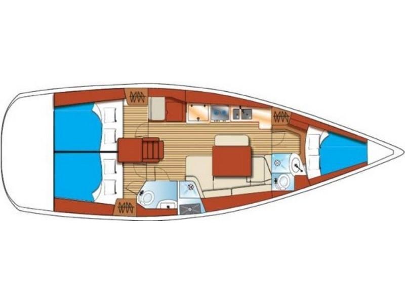 Oceanis 40 (Santa Maria) Plan image - 1