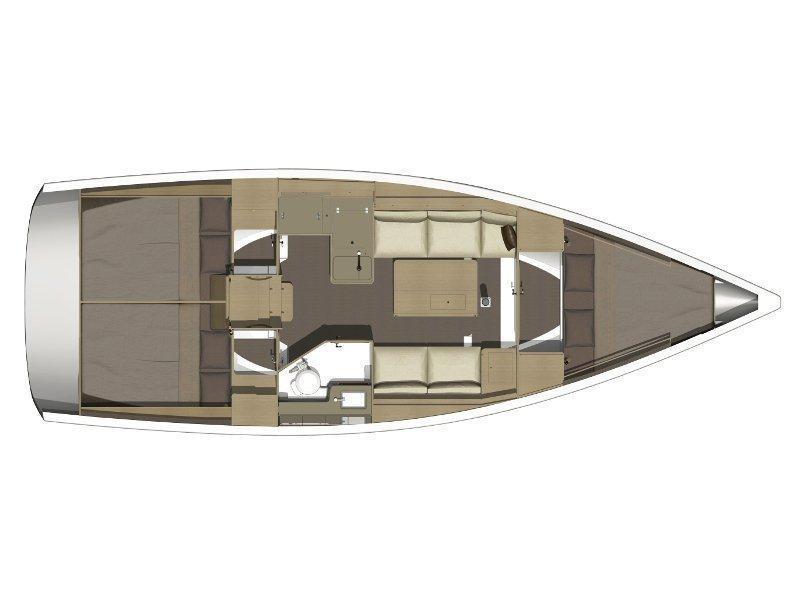 Dufour 350 GL (Dori) Plan image - 4