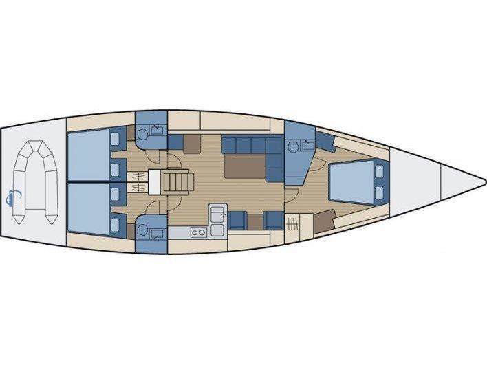Hanse 540e (Aello) Plan image - 2