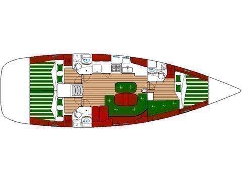 Oceanis Clipper 423 (Brava) Plan image - 22