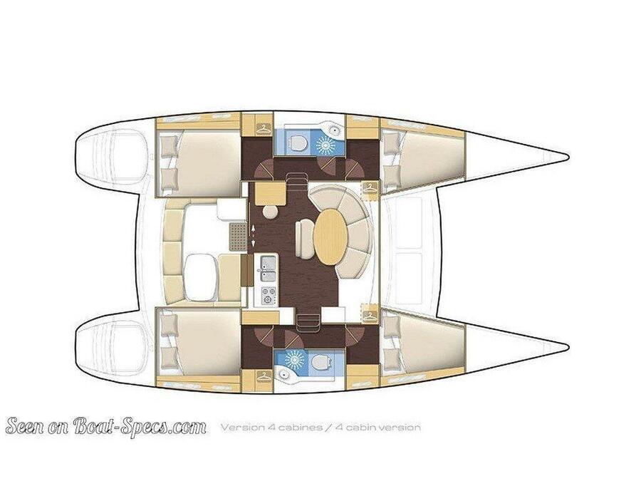 Lagoon 380 S2 (Meridian) Plan image - 13