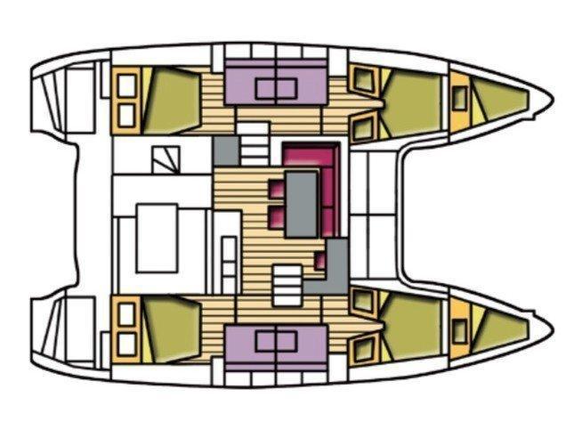 Lagoon 400 S2 (Atlante) Plan image - 5