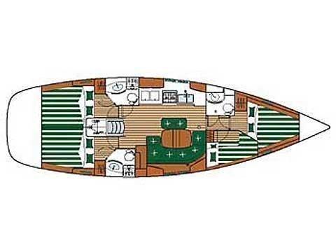 Oceanis 423 (Pegaso) Plan image - 5