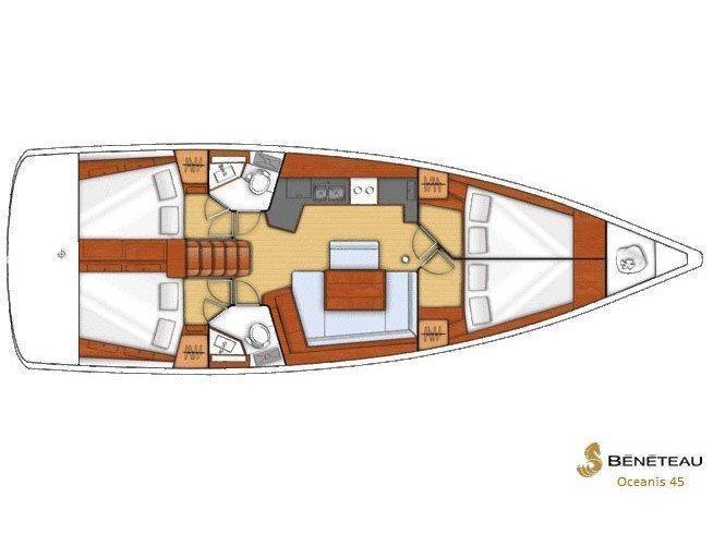 Oceanis 45 (Semiramis) Plan image - 1
