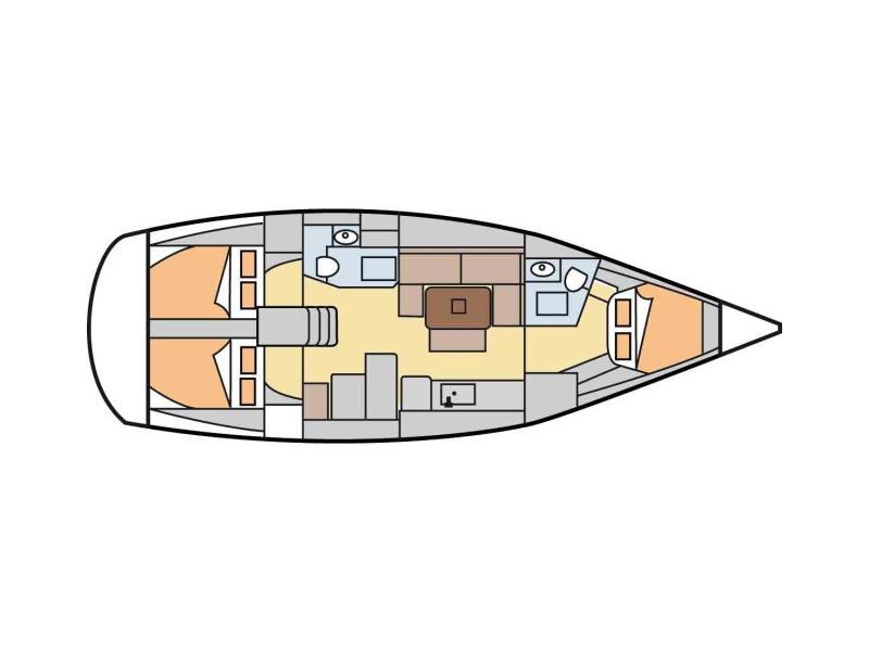 Dufour 405 (Albatros) Plan image - 5
