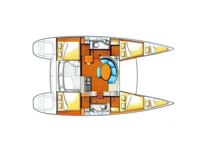 Lagoon 380 (Bagpuss) Plan image - 11