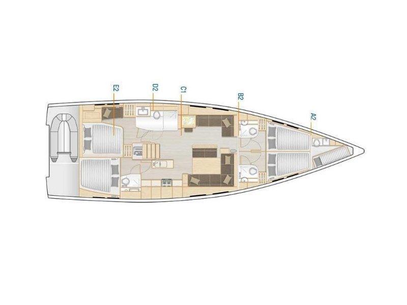 Hanse 548 (NN) Plan image - 1
