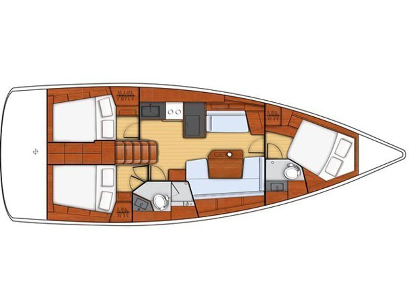 Oceanis 41.1 (Rose Royce) Plan image - 2
