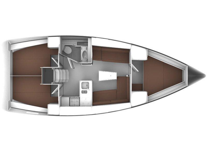 Bavaria Cruiser 37 (PITUFO) Plan image - 1