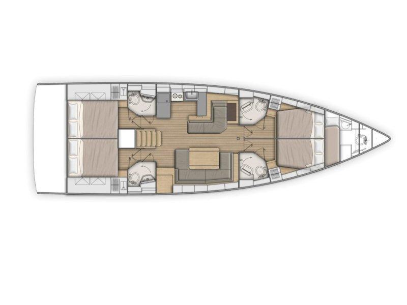 Oceanis 51.1 (Aeolian Muse) Plan image - 2