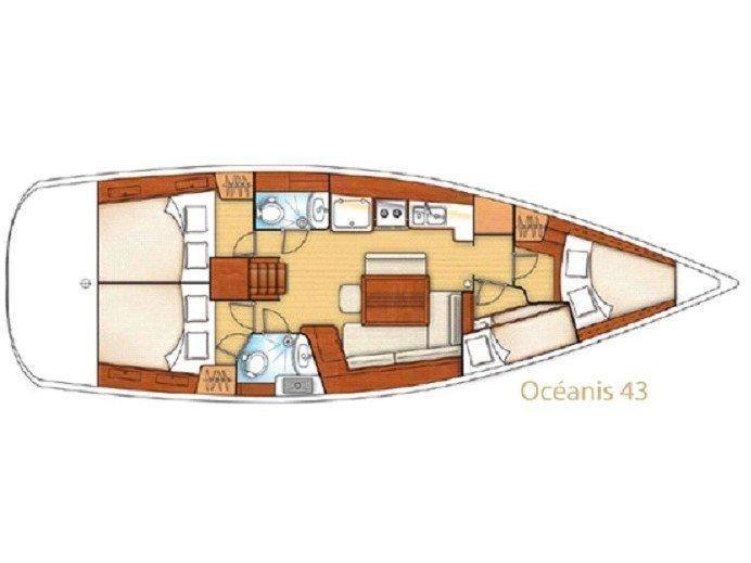 Oceanis 43-4 (Alboran XXXI Saoco (Majorca)) Plan image - 1