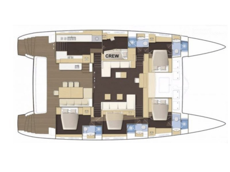 Lagoon 62 - 4 cabin version (Carpe Diem) Plan image - 4