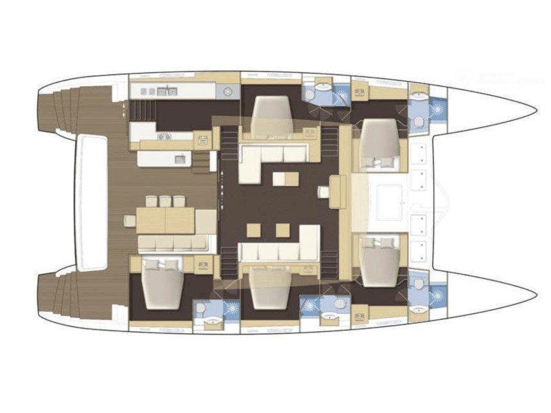 Lagoon 62 - 5 cabin version (Selene) Plan image - 6