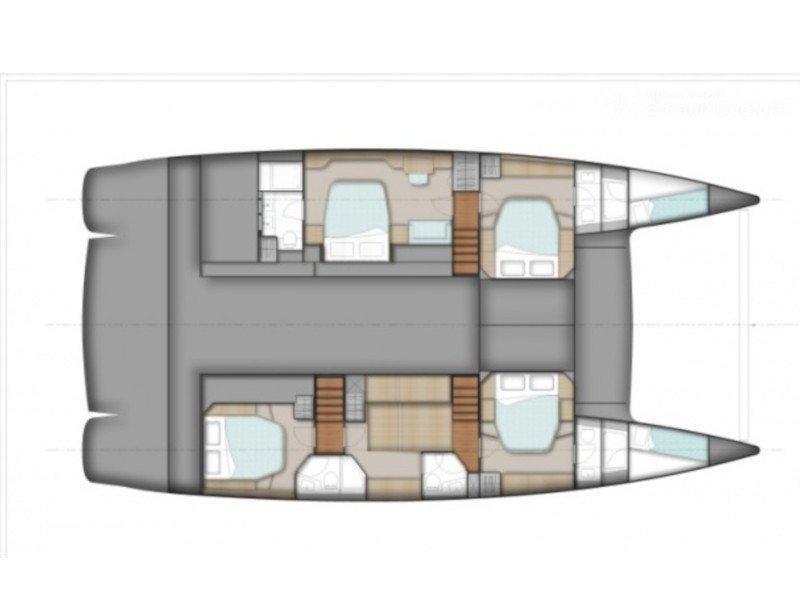 Sanya 57 - 4 cabin version (Highjinks) Plan image - 2
