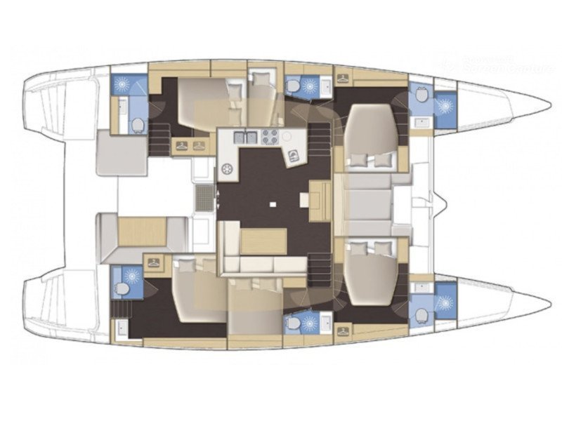 Lagoon 52 - 6 cabin verison (Lucky clover) Plan image - 7