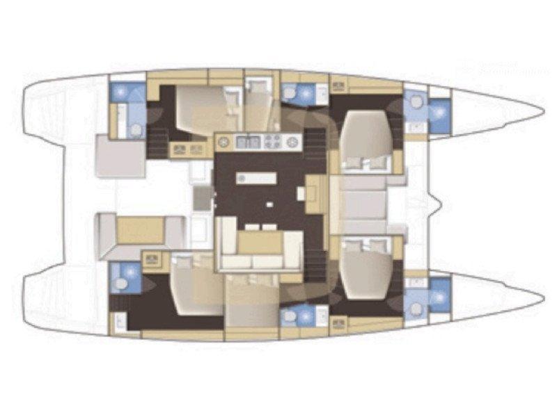 Lagoon 52 - 6 cabin verison (Nomad) Plan image - 2