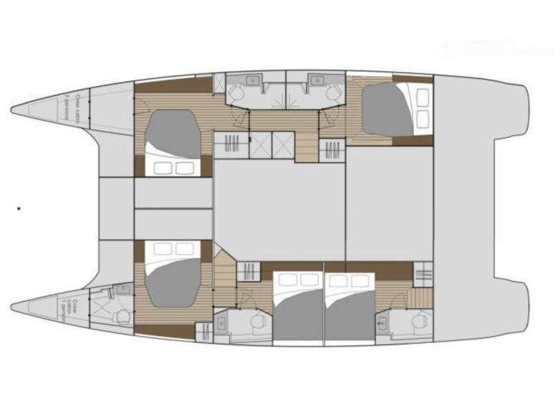 Saba 50 -  5 cabin version (Sea Energy V) Plan image - 1