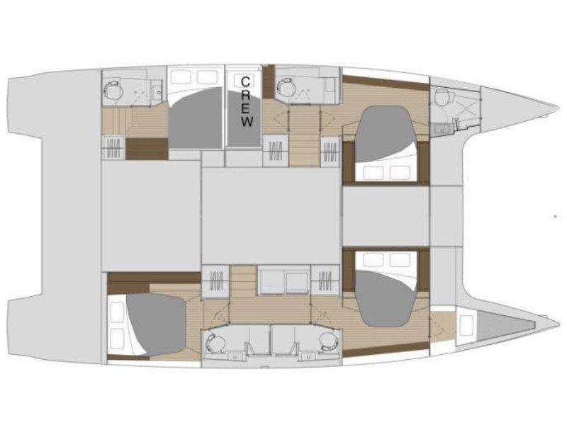 Saona 47 - 5 cabin version (White Coral) Plan image - 4