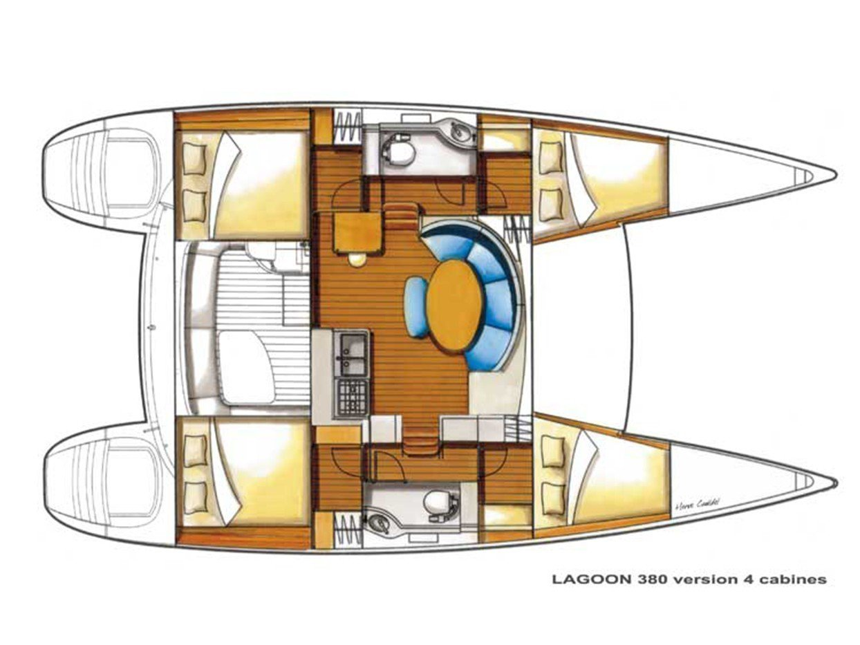 Lagoon 380 S2 (Lucky Seven (!!!from Monday) (New engines 2019!)) Plan image - 5
