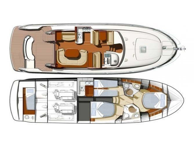 Jeanneau Prestige 46 Fly (Unplugged) Plan image - 7