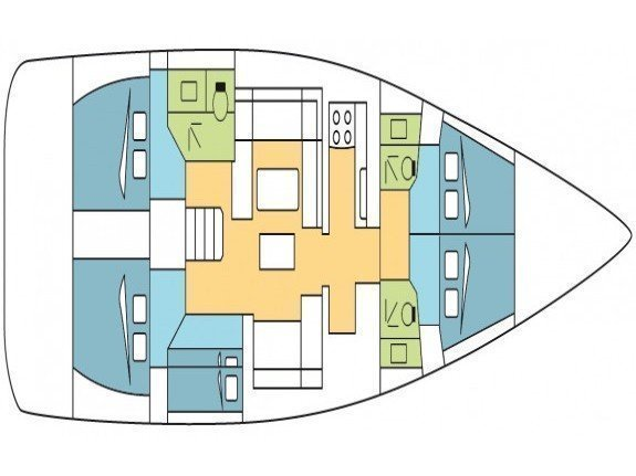 Dufour 520 Grand Large (Blue Bayou) Plan image - 1