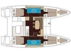 Lagoon 40 (Adriana) Plan image - 4