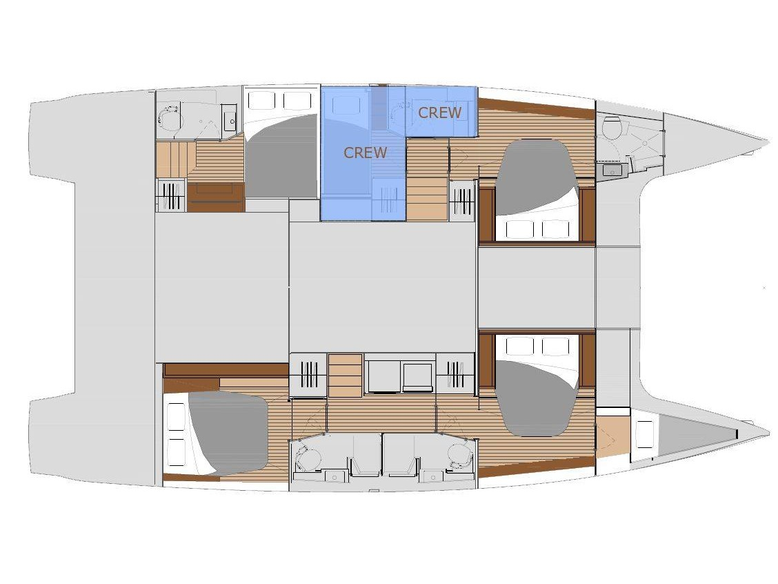 "Saona 47 - Fountaine Pajot (Crewed   ""Alegria"") Plan image - 12"