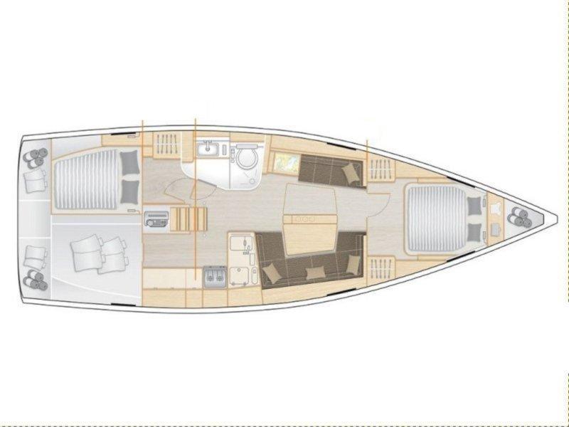 Hanse 418 (Martina) Plan image - 1
