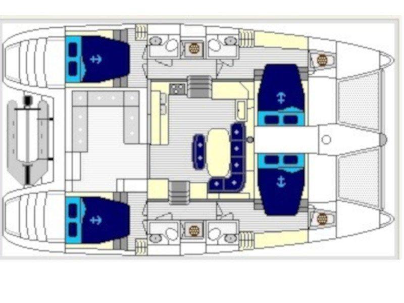 Lagoon 420 (SUNDAY) Plan image - 2