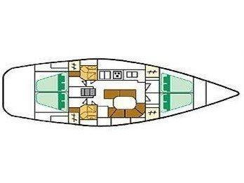 Oceanis 461 (Alboran XII Pampero (Radazul)) Plan image - 2
