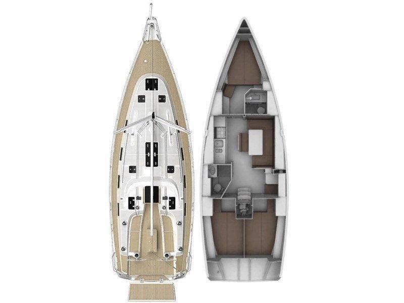 Bavaria 40 Cruiser S (Manhattan) Plan image - 1