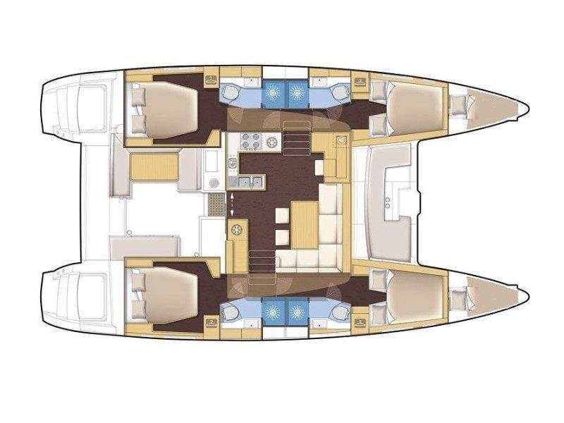 Lagoon 450  Flybridge (Advocate) Plan image - 2