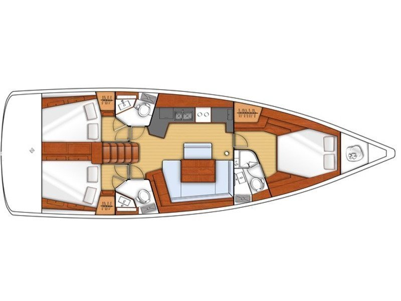 Oceanis 45 (Dream) Plan image - 2
