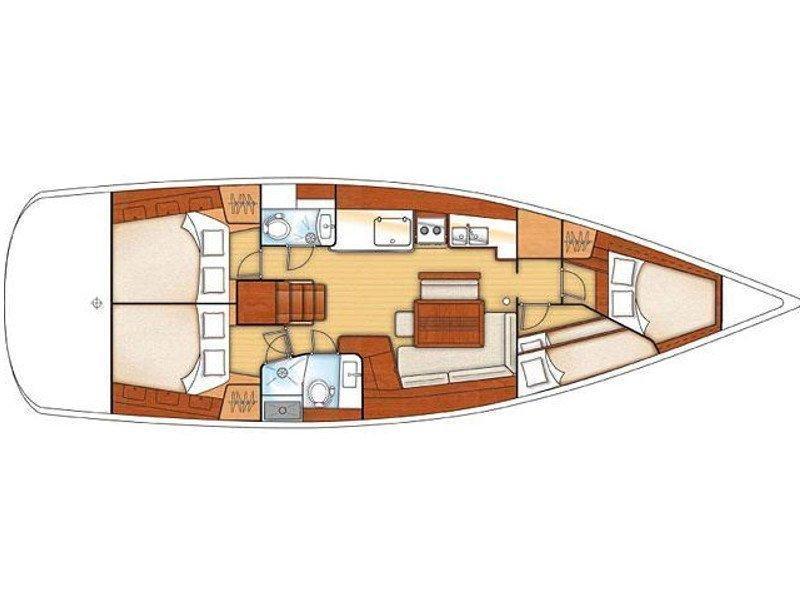 Oceanis 46 (Galatea) Plan image - 12