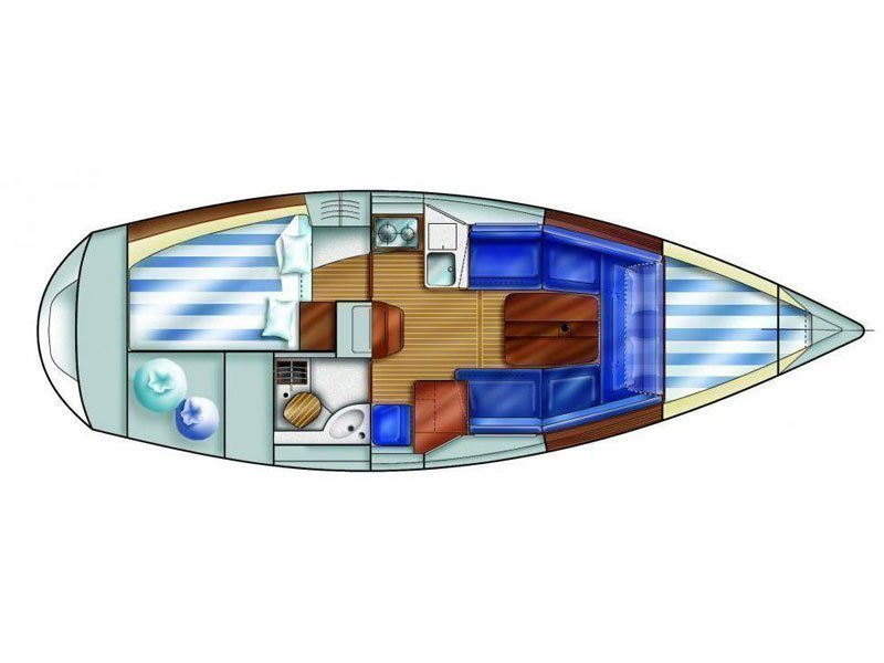 Dufour 30 (Lady Arago) Plan image - 2