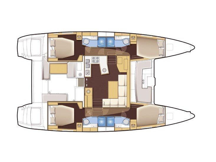 Lagoon 450  Flybridge (Aeolian Dream) Plan image - 6