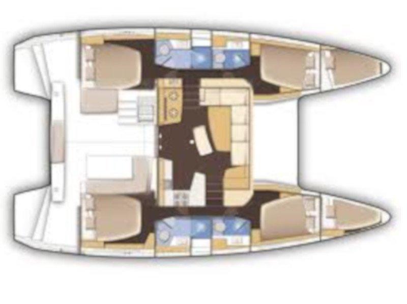 Lagoon 42 (Barchetta II) Plan image - 8