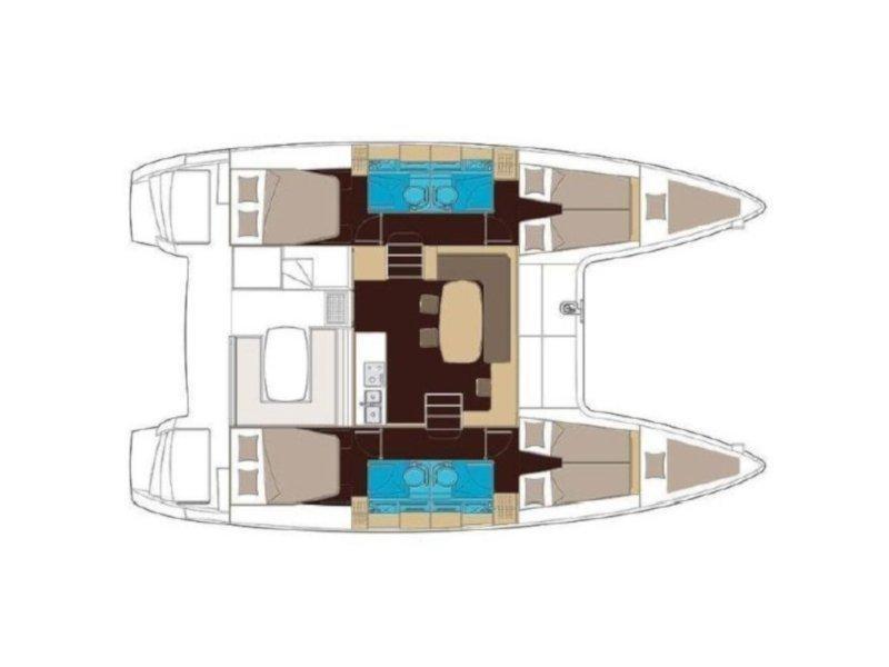 Lagoon 400 S2 (Helios) Plan image - 7