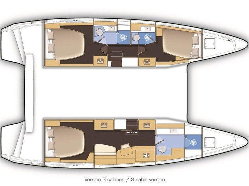 Lagoon 42 (Azurite) Plan image - 13