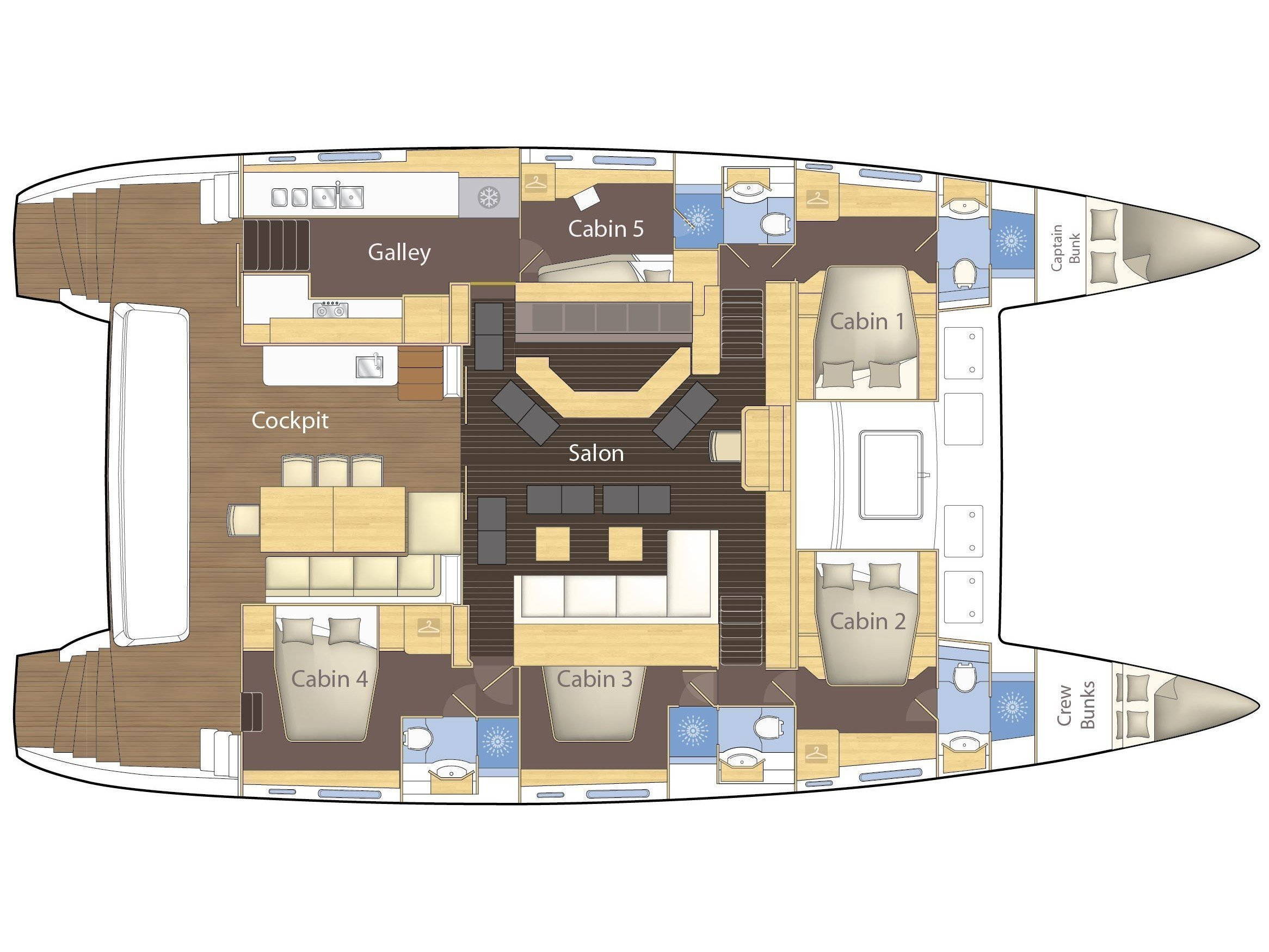 Lagoon 620 - 5 cab (Primetime) Plan image - 14