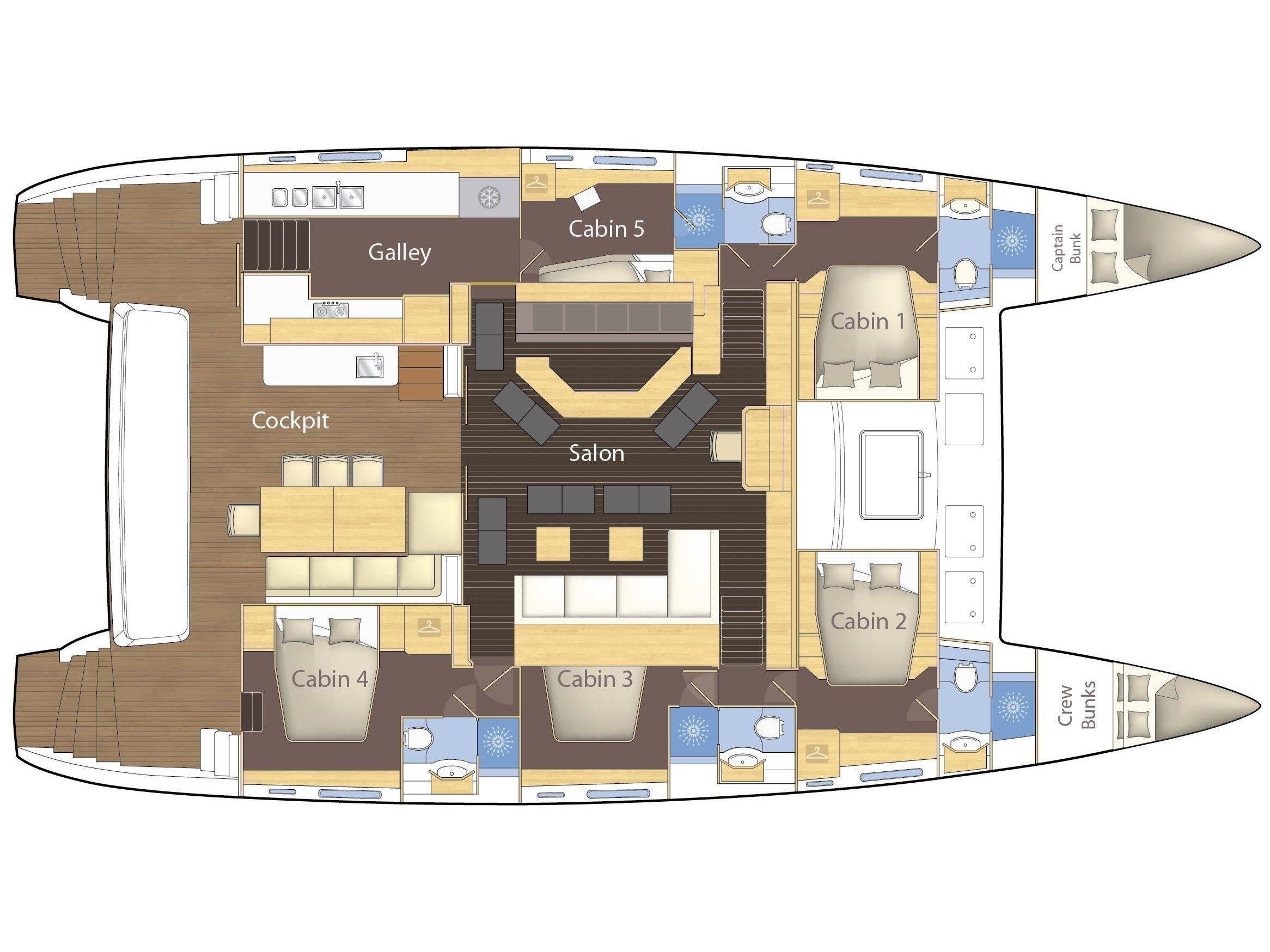 Lagoon 620 - 5 cab (Primetime) Plan image - 20