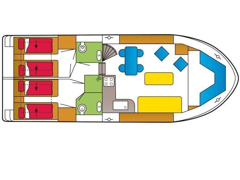 Safari Houseboat 1050 D (Sunshine) Plan image - 8