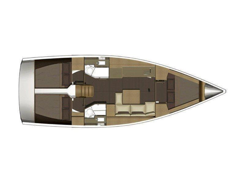 Dufour 382 Grand Large (Liszt) Plan image - 2