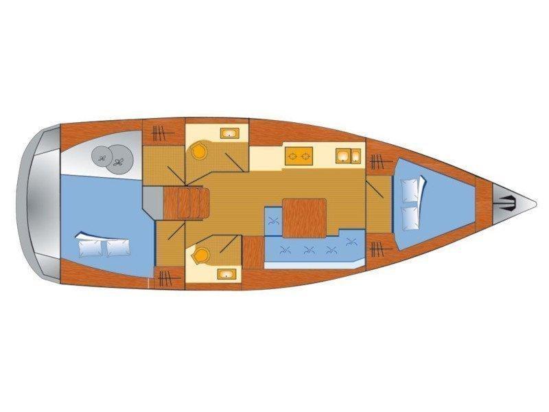Dufour 382 Grand Large - 2 cab (Lia) Plan image - 4
