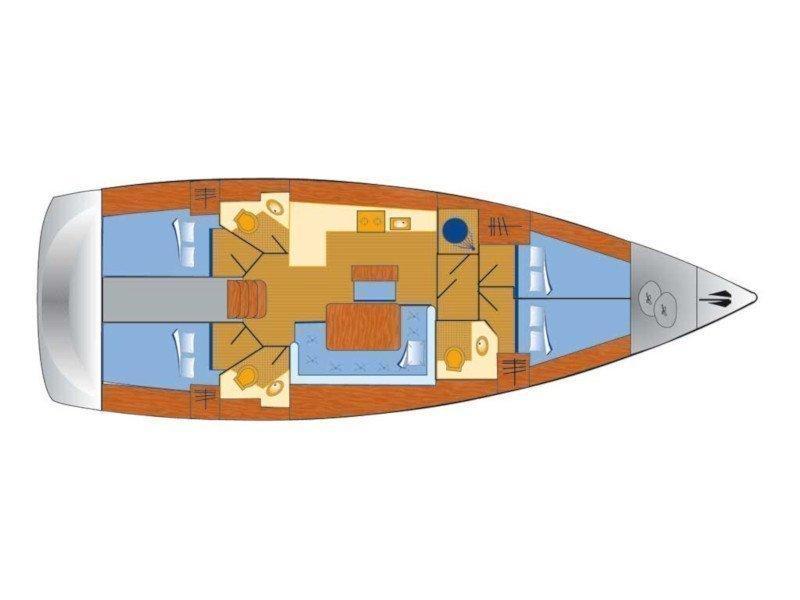 Bavaria Cruiser 46 (Beef) Plan image - 5