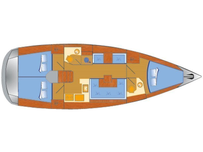 Sun Odyssey 419 (Happy Welcome) Plan image - 3